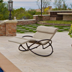 Delano™ Double Zero Gravity Orbital Lounger - Delano™ Double Orbital Lounger by RST Outdoor zero-gravity rocking patio lounge chair is inspired by sleek European design and is all about beauty and comfort.