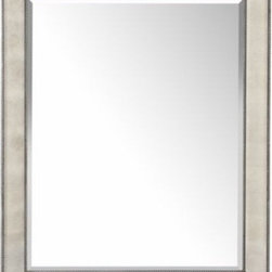 "Z Gallerie - Omni Mirror - Our Omni Wall Mirror places a modern spin on classic style. This mirror is edgy with its unique mirrored frame that reflects light in a variety of directions, gracing your wall with a playful aesthetic. The sharp angled edges and silver beaded trim give the mirror depth and sophistication. Also available in a wall ""leaner"" mirror."