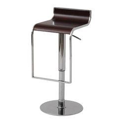Nero Bar Stool, Dark Wood, Set of 2