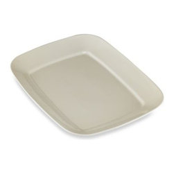 Real Simple - Real Simple Large Rectangular Serving Platter In Ivory - Find all the inspiration you need for an amazing meal with dinnerware from Real Simple. Designed for every step of the meal, from oven to table and freezer. Rich color and simple lines enhance casual meals with fuss-free elegance.
