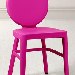 Samantha Side Chair - I love this bright twist on the classic aluminum chair. This neon chair will add a touch of color to any room.