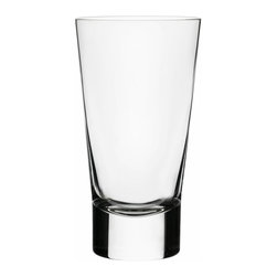 Iittala - Aarne Highball, Set of 2, 13 Oz. Clear - No one likes to drink alone, so why not buy your barware in twos? These modern highball glasses are perfect for cocktail hour with a friend or neighbor. The thick base keeps them grounded while the tall glass allows room for extra ice and 13 ounces of your favorite libation.