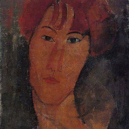 """Amedeo Modigliani Portrait of Pardy - 18"""" x 24"""" Premium Archival Print - 18"""" x 24"""" Amedeo Modigliani Portrait of Pardy premium archival print reproduced to meet museum quality standards. Our museum quality archival prints are produced using high-precision print technology for a more accurate reproduction printed on high quality, heavyweight matte presentation paper with fade-resistant, archival inks. Our progressive business model allows us to offer works of art to you at the best wholesale pricing, significantly less than art gallery prices, affordable to all. This line of artwork is produced with extra white border space (if you choose to have it framed, for your framer to work with to frame properly or utilize a larger mat and/or frame).  We present a comprehensive collection of exceptional art reproductions byAmedeo Modigliani."""