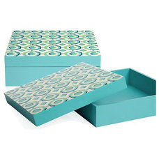 Modern Storage Bins And Boxes Perspective Box, Aquamarine