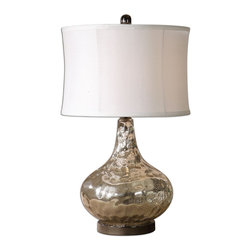 Uttermost - Uttermost 26453-1 Vizzini Glass Table Lamp - Uttermost 26453-1 Vizzini Glass Table Lamp