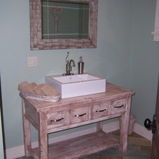Traditional Bathroom Vanities And Sink Consoles by Ron Franks Builders / Ron Franks Cabinetry