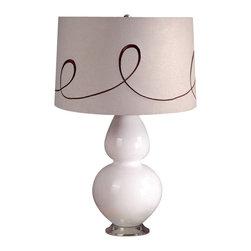 Laura Ashley - Laura Ashley BTP403 Mavis Ceramic Table Lamp Base White - Laura Ashley BTP403 Mavis Ceramic Table Lamp Base White