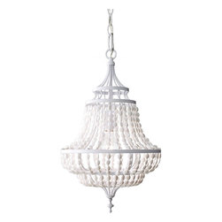 Murray Feiss - Murray Feiss F2799/1WSG Maarid 1 Bulb White Semi Gloss Chandelier - Murray Feiss F2799/1WSG Maarid 1 Bulb White Semi Gloss Chandelier