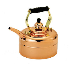 3 Qt. Tri-Ply Copper Windsor Whistling Teakettle (Unlacquered) - Unique Tri-Ply material: An exterior layer of Solid Copper & an interior layer of  Stainless Steel surround a pure Aluminum core for excellent looks, performance & durability no single material can match.