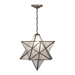 Meyda Tiffany - Meyda Tiffany Outdoor Lighting Unique Pendant Light Fixture in Mahogany Bronze - Shown in picture: Moravian Star Seedy Pendant; Grace Your Home With This Timeless Ceiling Fixture - Hand Crafted Of Sparkling Clear Seedy Art Glass. Dating Back To Moravia - Hunderds Of Years Ago - The Star Was Used To Protect Your Home And Bring Good Luck To Your Family. The Meyda Tiffany Moravian Star Pendant Is Suspended From Chain And Canopy In A Mahogany Bronze Hand Applied Finish.; Smallest height shown - expandable from 20-54.5.