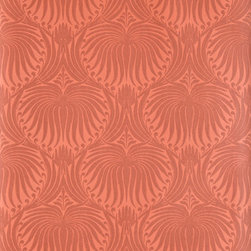 Farrow & Ball - The Lotus Papers - Farrow & Ball papers are not inexpensive, but each roll is handmade to order. This lotus flower pattern is a modern take on a 100-year-old design. It is available in 30 colorways and two different pattern sizes. I'm loving it in this burnt orange color.