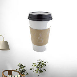 Wallmonkeys Wall Decals - Disposable Hot Cup Wall Decal - 18 Inches H, 72-Inch X 48-Inch - Easy to apply - simply peel and stick!