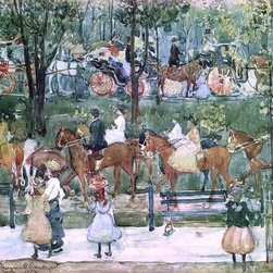 """Maurice Prendergast The Bridle Path, Central Park   Print - 16"""" x 24"""" Maurice Prendergast The Bridle Path, Central Park premium archival print reproduced to meet museum quality standards. Our museum quality archival prints are produced using high-precision print technology for a more accurate reproduction printed on high quality, heavyweight matte presentation paper with fade-resistant, archival inks. Our progressive business model allows us to offer works of art to you at the best wholesale pricing, significantly less than art gallery prices, affordable to all. This line of artwork is produced with extra white border space (if you choose to have it framed, for your framer to work with to frame properly or utilize a larger mat and/or frame).  We present a comprehensive collection of exceptional art reproductions byMaurice Prendergast."""