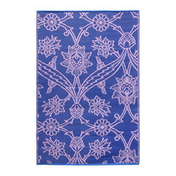 Achla - Lavender Fuchsia Flowers Floor Mat - Color the ground you walk or sit on with these polyurethane woven floor mats. Spread them out at the beach, on the porch, floors in the kitchen and childrens rooms or hang them on the wall. Soft on the feet and easy to wipe clean. We recommended using carpet tape to hold them in place indoors. Our mats are made to last, but like everything else, we need to take good care of them. Ideally they should be kept rolled when not in use. Try to avoid leaving mats exposed to sun or rain for long periods of time. Wash by hand and allow to drip dry. Polyurethane, woven floor mats. Used both Indoor and Outdoor. Construction Material: Plastic. No Assembly Required. 48 in. W x 72 in. D x 0.25 in. H (3 lbs.)