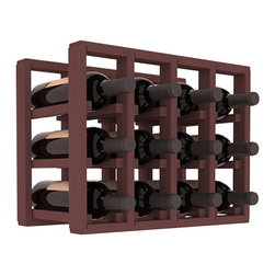 Wine Racks America® - 12 Bottle Counter Top/Pantry Wine Rack in Pine, Walnut Stain - These counter top wine racks are ideal for any pantry or kitchen setting.  These wine racks are also great for maximizing odd-sized/unused storage space.  They are available in furniture grade Ponderosa Pine, or Premium Redwood along with optional 6 stains and satin finish.  With 1-10 columns available, these racks will accommodate most any space!!