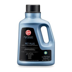 Hoover - Hoover Platinum Collection Pet Plus Carpet and Upholstery Detergent - This professional strength carpet and upholstery detergent has a concentrated enzyme formula that penetrates deeper to eliminate stains and odor.