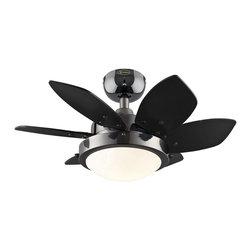 """Westinghouse Lighting - Westinghouse Lighting Quince 24 Inch Six Blade Reversible Indoor Ceiling Fan - Westinghouse Lighting 7224300 Quince 24"""" Six Blade Reversible Indoor Ceiling Fan, Gun Metal"""