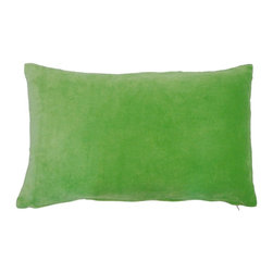 JITI - Small Green Velvet Pillow - Who can resist a classic? With this velvet throw pillow, available in oodles of sizes and colors, you won't have to! Ideal for mixing and layering, go ahead and experiment. Change your look as often as you can move this one here, and that one there. Anywhere it lands, it's a perfect fit.