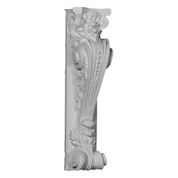 "Ekena Millwork - 8 1/4""W x 6 7/8""D x 28 1/8""H Fairfax Corbel - 8 1/4""W x 6 7/8""D x 28 1/8""H Fairfax Corbel. These corbels are truly unique in design and function. Primarily used in decorative applications urethane corbels can make a dramatic difference in kitchens, bathrooms, entryways, fireplace surrounds, and more. This material is also perfect for exterior applications. It will not rot or crack, and is impervious to insect manifestations. It comes to you factory primed and ready for your paint, faux finish, gel stain, marbleizing and more. With these corbels, you are only limited by your imagination."