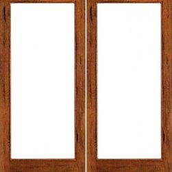 Rustic 1 Lite Interior Solid Wood Ig Glass Double Door
