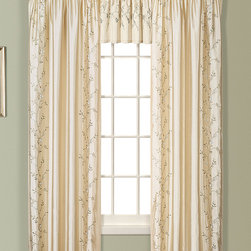United Curtain - Natural Addison Embroidered Curtain Panel - Warm up the windows with this sophisticated curtain panel. With a drape design and a subtle faux silk floral pattern, it's the perfect piece to revitalize any room's d̩cor. �� Includes one panel 100% polyester Machine wash Imported