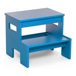 """Loll Designs - Single Step Stool - Features: -Intended for both indoor and outdoor use and can help you plant a flower pot, or grab something from a high cupboard.-Perfect for children to use as a sink platform.-Assembly required.-Dimensions: 6"""" - 11.75"""" H x 14"""" W x 9"""" - 12.5"""" D."""