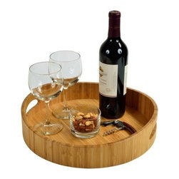 Picnic at Ascot - Curve Bamboo Cocktail Tray by Picnic at Ascot - Add a touch of style with our Curve Bamboo Cocktail Tray by Picnic at Ascot which is made of high quality bamboo, Its tray can be used for serving drinks and snacks. The elegant curved shaping around the sides make this a unique gift.