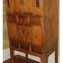 Antique Chinese Kitchen Cabinet, 4-Doors and 6-Drawers - Antique Chinese Kitchen Cabinet, 4-Doors and 6-Drawers