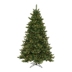 "Vickerman - Camdon Fir 886T 300WmWht LED (5.5' x 43"") - 5.5' x 43"" Camdon Fir Tree , 886 PVC tips and 300 Warm White Italian LED Lights Utilizes energy-effiecent, durable LED technology."