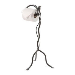 Stone County Ironworks - Leaf Standing Toilet Paper Holder (Hand Rubbed Brass) - Finish: Hand Rubbed Brass. Curved leg. Tri leg stand. Made from iron. Made to order, please allow three weeks. Weight: 15 lbs.