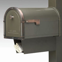 Coronado Newspaper Holder - This special addition for the Coronado mailbox is the perfect receptacle for newspapers, magazines, and catalogs. Made to fit specific mailboxes.
