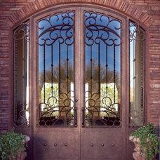 Mediterranean Front Doors by Colletti Design Iron Doors