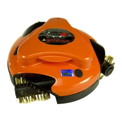 Grillbot ORANGE Automatic Grill Cleaning Robot w/ 3 Replaceable Wire Brushes - Grillbot is the easy-to-use, fun to watch, fully automated device that easily cleans with just the push of a button. here are six reasons why grill cleaning has never been easier! Features:- Push-button operations: So simple anyone can do it.- 3 strong electric motors: The Grillbot is equipped with three high-power electric motors.- Replaceable wire brushes: Pop right off for easy cleaning and are dishwasher safe.- LCD alarm & timer: Set it and forget it. Grillbot's smart and will notify you when finished.-  Rechargeable Battery: Designed to provide hours of hands-free grill cleaning. Base model requires 6 D batteries, not included.- Smart Brain: The Grillbot is driven by a sophisticated CPU chip that controls the movement, speed, and direction of the brushes.