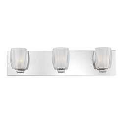 Quoizel - Quoizel Lighting Forme Optics 3 Light Bath Light in Polished Chrome FMOP8603C - This 3 light Bath Light from the Forme Optics collection by Quoizel will enhance your home with a perfect mix of form and function. The features include a Polished Chrome finish applied by experts.