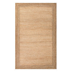 Jaipur Rugs - Naturals Textured Jute Ivory/White Area Rug (2 x 3) - This rug will be comfortable in any setting. 100% natural jute is spun and intricately woven to create this collection.