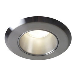 """Contrast Lighting - T3400 Downlight Non Adjustable, Beveled Trim by Contrast Lighting - The Contrast Lighting T3400 Downlight Non Adjustable, Beveled Trim works with any Contrast Lighting 3000 series housing types. The trim and reflector are available in a variety of finish options to match practically any decor. Features a 2.63"""" opening for low voltage halogen lighting. Contrast Lighting, founded in 1989 and headquartered in Quebec, manufactures top-quality lighting for the North American market, with a special emphasis on halogen recessed lighting fixtures."""