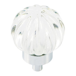 Hickory Hardware - Luster Knob (Set of 10) - Color/Finish: Glass with Chrome.