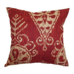 The Pillow Collection Hargeisa Ikat Pillow - Like a faded bandana, the rustic charm of The Pillow Collection Hargeisa Ikat Pillow looks like a well-worn favorite. Made of 100% plush cotton, this bold square pillow features a plush 95/5 feather/down insert for an ultra-soft feel. The mix of traditional and modern blend seamlessly into an Ikat print that's sure to spruce up any room. Available in various colors so you can get the look that's just right for you.About The Pillow CollectionIdentical twin brothers Adam and Kyle started The Pillow Collection with a simple objective. They wanted to create an extensive selection of beautiful and affordable throw pillows. Their father is a renowned interior designer and they developed a deep appreciation of style from him. They hand select all fabrics to find the perfect cottons, linens, damasks, and silks in a variety of colors, patterns, and designs. Standard features include hidden full-length zippers and luxurious high polyester fiber or down blended inserts. At The Pillow Collection, they know that a throw pillow makes a room.