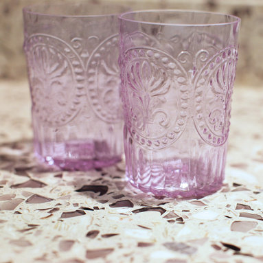 Amethystos. Vetrazzo - A maiden's refusal is our invitation to take in the intoxicating hue of this violet mix. Be enchanted with it the way Dionysus was. We promise this glass won't turn to stone.