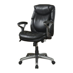 Serta by True Innovations - Serta AIR Office Chair in Black Bonded Leather - Serta by True Innovations - Office Chairs - 44103 - About This Product: