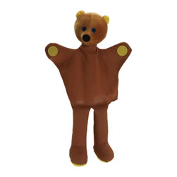 """The Original Toy Company - The Original Toy Company Kids Children Play Bear - Bear Hand Puppet. Take a bow our hand puppets are exciting, interactive, for storytelling, role play or just plain fun. Approx. 14""""Hx 7""""W. Age 1 plus. weight: 1 lbs."""