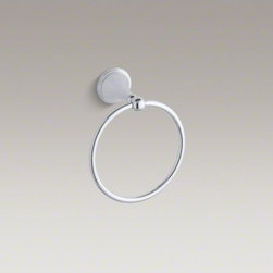 KOHLER - KOHLER Finial(R) towel ring - With sleek, sculptural lines and classic detailing, Finial Traditional faucets and accessories bring elegance to your bath or powder room. This towel ring provides a graceful location for a hand towel wherever you need it.