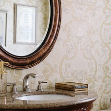 Traditional Powder Room by The Design House Interior Design