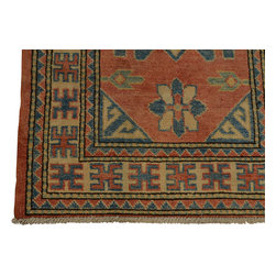 2'x3' 100 Percent Wool Oriental Rug Hand Knotted Kazakh Tribal Design Sh18436 - Our Tribal & Geometric hand knotted rug collection, consists of classic rugs woven with geometric patterns based on traditional tribal motifs. You will find Kazak rugs and flat-woven Kilims with centuries-old classic Turkish, Persian, Caucasian and Armenian patterns. The collection also includes the antique, finely-woven Serapi Heriz, the Mamluk Afghan, and the traditional village Persian rug.