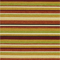 Alexander Home - Handmade Indoor/ Outdoor Capri Sunset Rug (7'6 x 9'6) - Add a pop of color anywhere in your home with this striped indoor/outdoor rug. The colorful contemporary rug is UV and mildew resistant, making it perfect for a porch or patio. The polypropylene rug has a latex backing to prevent slipping.