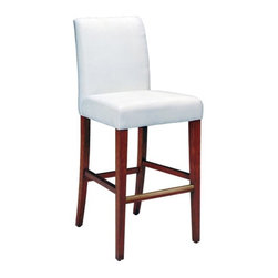 """Bailey Street - Couture Covers Bar Stool - The Couture Covers Bar Stool can be paired with many different slipcovers allowing you to change the look of your room almost as often as you change your clothes. Whether you want to dress your bar stool up or down there is a Couture Cover for you! Features: -Bar stool cushions are finished in white muslin. -32.5"""" Seat height. -Assembly required. -Slipcover sold separately. -Overall dimensions: 48"""" H x 20"""" W x 24"""" D."""