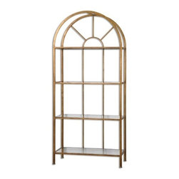 Uttermost - Uttermost - Cireneo Etagere In Gold Leaf - 24440 - Cireneo Collection Etagere