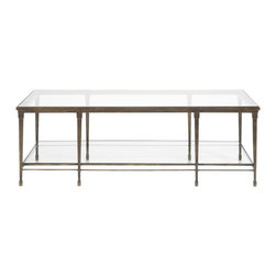 Vanguard - Rectangular Cocktail Table - Thanks to its slender frame and layers of glass, this seriously sophisticated table gives you an abundance of surface area without compromising visual space. A winning choice for fans of contemporary design, it's an elegant centerpiece for your living room.