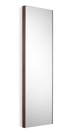 WS Bath Collections - Wall Mount Mirror with Rust Frame - Modern/ contemporary design. 5 years silvering guaranteed. Warranty: 1 year. Made of glass mirror with powder coated aluminum. Made in Italy. 12.8 in. W x 39.4 in. H (20 lbs.). Spec SheetLinea; washbasins, washstands, and bathroom furniture, of various sizes and materials. Pureness of glass, polish of steel, and warmth of wood. Perfection of lines, art, and harmony. Made by Lineabeta of Italy to Highest Industry standards.