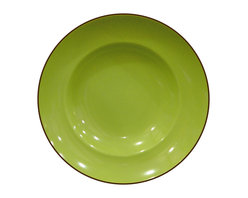 Waechtersbach - Duo Set of 4 Soup Plates Duo Mint - Porcelain dinnerware is treated to a lustrous ceramic glaze for a look that really pops. The tangy mint color is great by itself, or mix with other patterns and hues for a casual, collected feel.